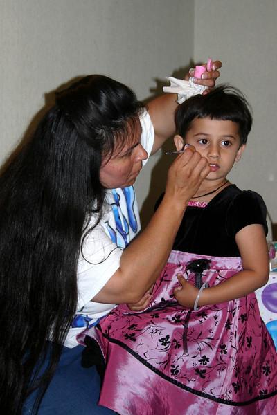 Arni enjoying face painting ...