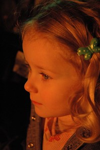 Mary in the firelight