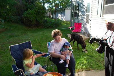 BBQ at Joel, Sarah, and Luke's