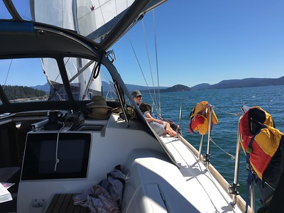 sailing from Teakarne Arm