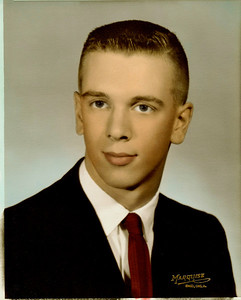 Bill J Boyd...1961 High School Senior Portrait, Healdton, Oklahoma