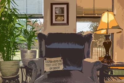 My living room in Austin, Texas.  1st photo taken in 2015.