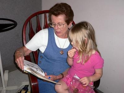 Mimi reading a story
