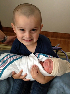 Proud big brother Ethan