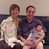 Hayden about 2 weeks old, with Grandma & Grandpa Lee.