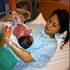 Baby & proud mother Linh.   This photo was taken only 3 hrs after Linh left home for the Ottawa Hospital, Civic campus.
