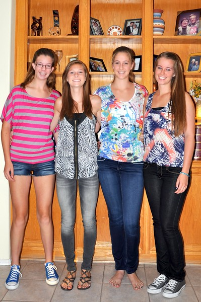 Back to School 2011; Katie, Sarah, and Brielle start high school