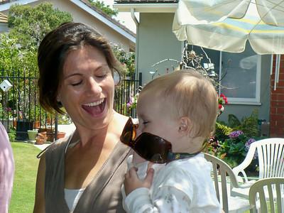 Meghan laughing at Kimberly