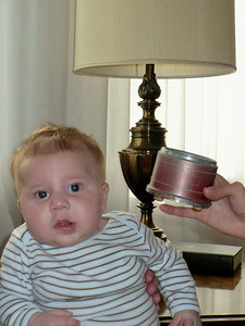 Joey listening to the music box from Aunt Marie