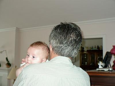 John holding baby Joey