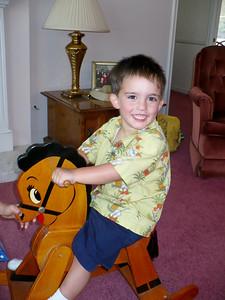 Owen Taylor rides Rocky