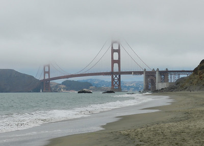 The bridge from Baker Beach