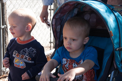 Carson Funk (my youngest grandchild), and his older brother Trevor.