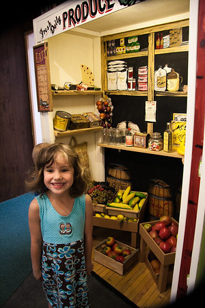 At the museum restored produce store.
