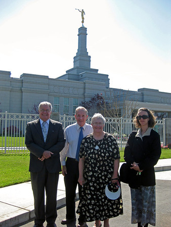At the Fresno Temple with Lou Jean's cousin Mike.