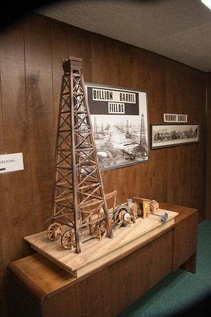 Photo and display of one of the most productive oil fields ever in the U.S.