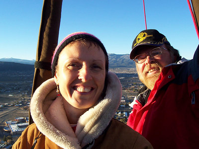 Caroline and our pilot, Keith Takatch.