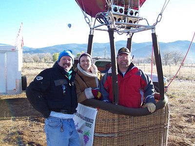 Chris & Caroline with their pilot.