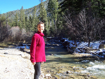 Caroline and the snowy river.