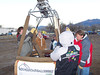 For our 8th anniversary (and first in New Mexico) we wanted to go ballooning. A small balloon rally (compared to the big one in Albuquerque) occurs in Taos at the end of October and we had a chance to ride. It was pretty neat to be part of a mass ascension for our first flight. Here Caroline helps with setting up the balloon at 7am.