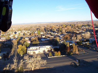 Looking west across Taos in the morning sun.