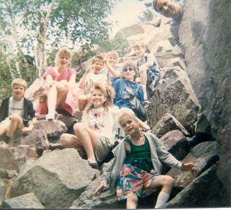 People on the rocks