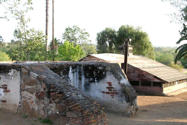 remnants of foundation of Guajome casa