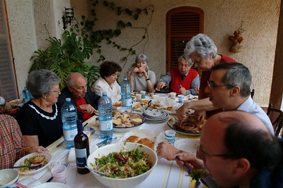 Pasquetta at Zia Laura's place.