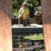 Barb - Frame in reflecting pool at Botanic Gardens