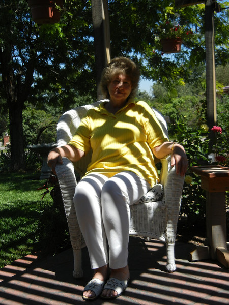 Barb on Front Patio