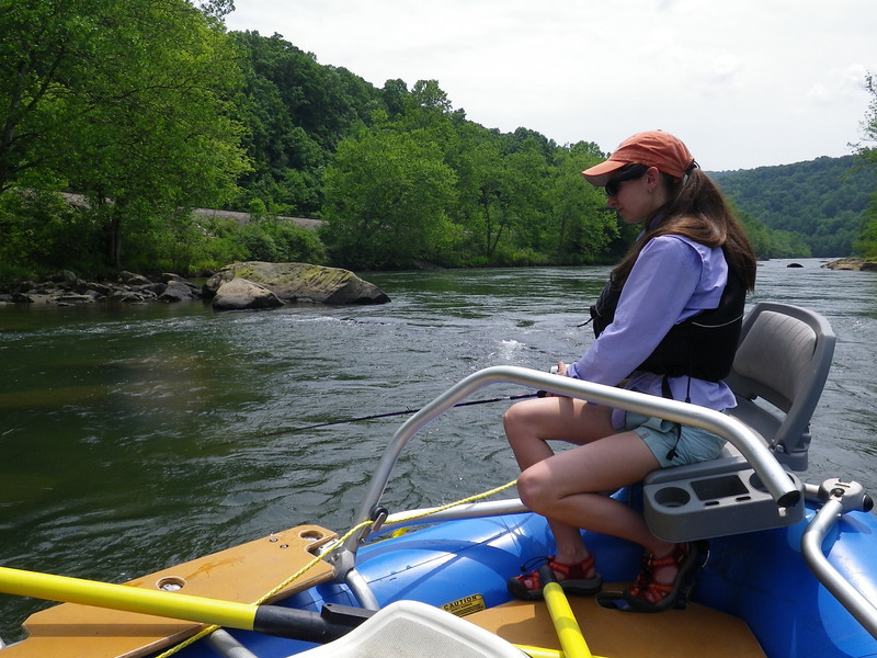 Fishing on the Youghiogheny River in Ohiopyle Pennsylvania with Dad, Amanda, and myself.  It was a good day.  Dad learned how to row and Oar Rig and Amanda got a fishing pole.  I got to spend time with two of my favorite people.