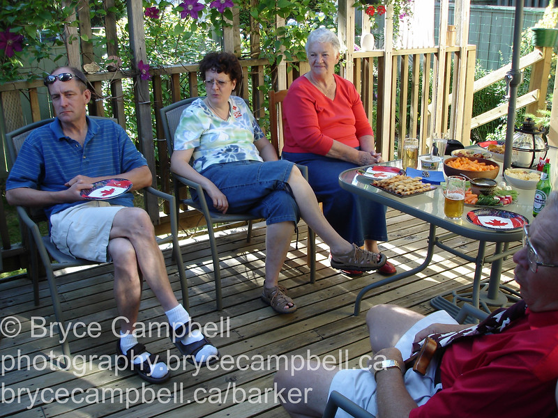 Canada Day 2006 at Bill and Lynda's in North Vancouver.