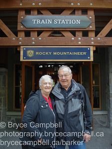 Don and Gisele aboard the Rocky Mountianeer. May 2010 -- Whistler, Quesnel, Jasper and Kamloops