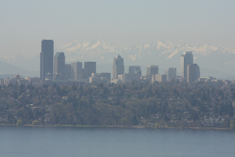 Seattle skyline & the Olympic mountain range in the background.