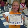 Isabel gets the principals award - Yes Izy!