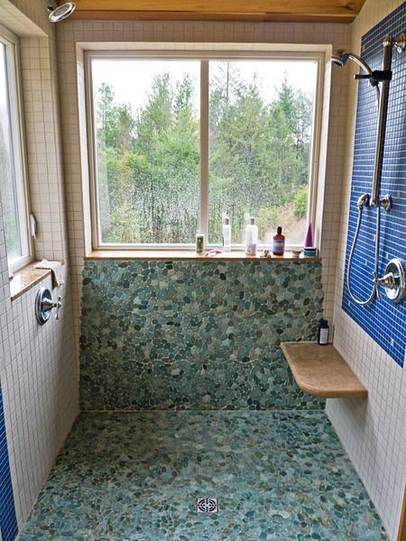 shower on lower level adjacent to bedroom
