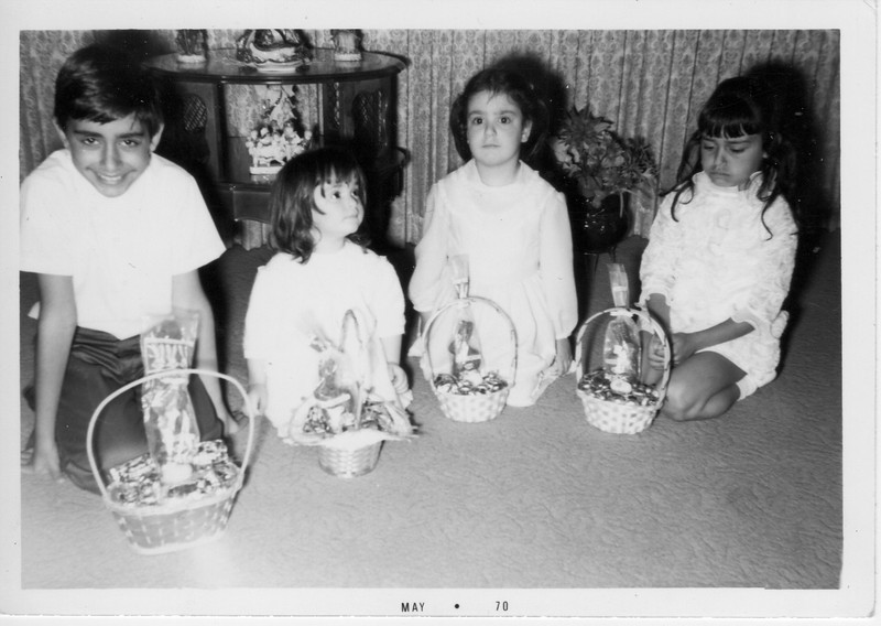 Phil Battaglia, Margaret Giammarresi, Angela Giammarresi, and Dorothy Battaglia celebrate Easter in Clairemont.