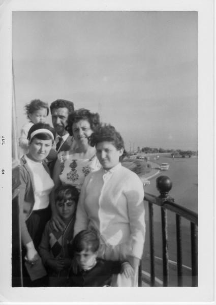 Back Row: Dorothy Battaglia, her father, Antonino Battaglia, her mother Margaret Battaglia. Front Row: Maria Falcone, Phil Battaglia, Josephine, and unknown child.