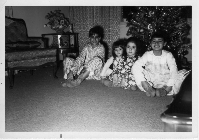 Phil Battaglia, Margaret Giammarresi, Angela Giammarresi, and Dorothy Battaglia celebrate Christmas.