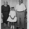 Dorothy Battaglia with her grandparents, Margherita and Domenico Balistreri, for Dorothy's First Communion.