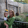 Mommy and Claire Bear with the Baylor Bear.