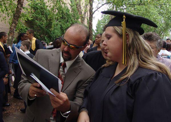 BeCCa & Her DaD!   <br /> Kellam HighSchool Graduation<br /> 18 June 2005