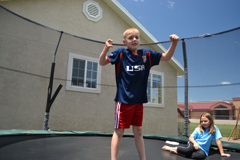 David on his trampoline
