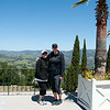 Joy and me on one of the terraces at Hearst Castle.