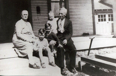 Orph and Ruth Beaty with their grandkids. (Herman, Ray, and Ed)