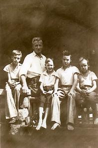 Left to Right: Ray, Orph, Herman, Ediwn, Harold  At farm - Hayden, Indiana