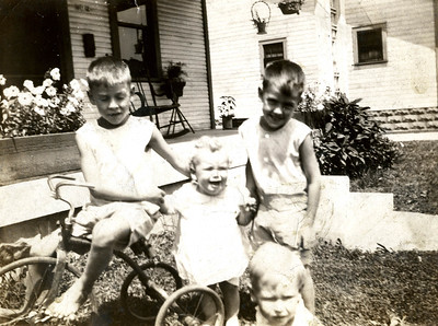 1 - Edwin 2 - Ray 3 - Herman 4 - Harold  When they lived on 22nd St. Connersville, IN