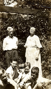 Orph and Ruth Beaty with their grandkids, Herman, Ray, Harold and Edwin.