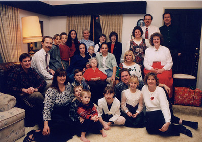 The whole family at Christmas.