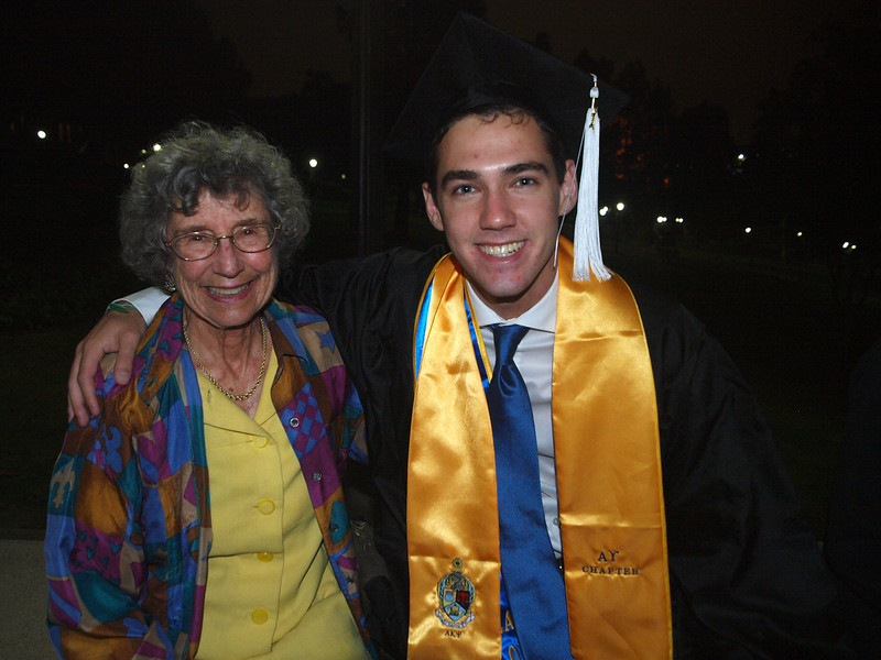 After the ceremony, we meet up with Beau. Grandma congratulates him.